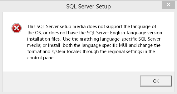 SQL Server not support anguage