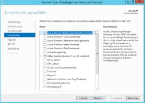 Active Directory Lightweight Directory Services installieren