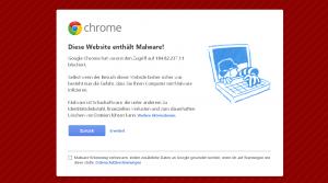 Malware Webseite