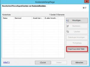 Pagescope Import aus einer Datei