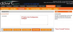 IPTables Konfiguration DD-WRT