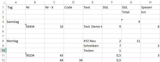 Formatierung Excel zurücksetzen