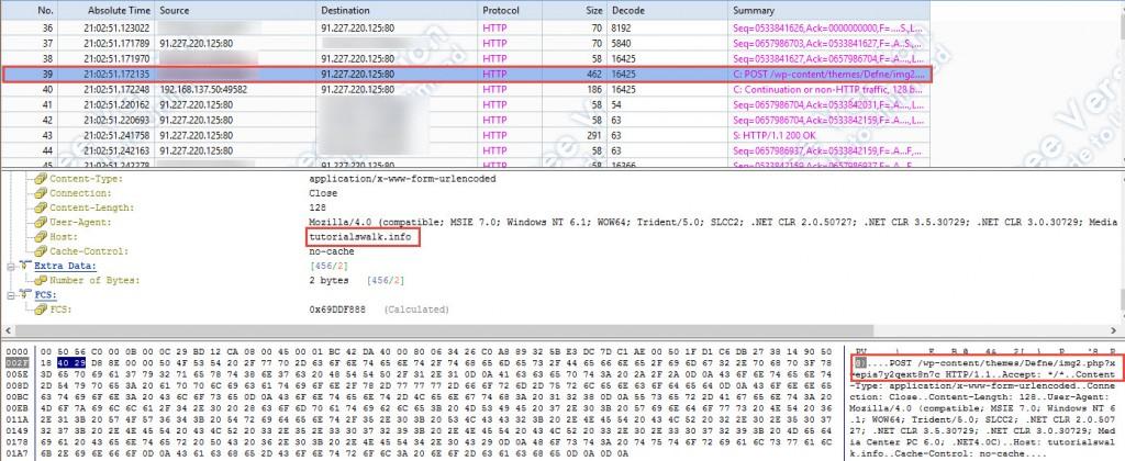 CryptoWall 3 Netzwerkprotokoll