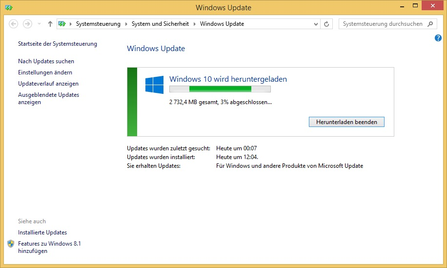 Windows 10 Upgrade erzwingen