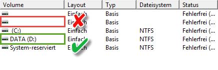 Datenträgerverwaltung Windows