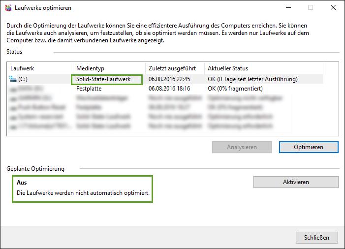 SSD optimieren